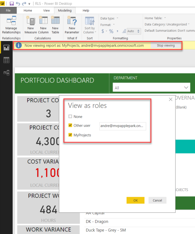 Using Row Level Security to Auto Filter your Power BI